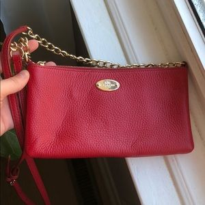 Small red coach purse